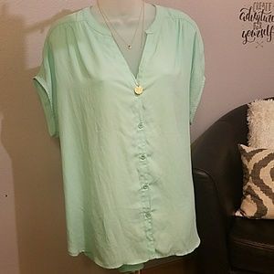 GNW Mint green botton down shirt.
